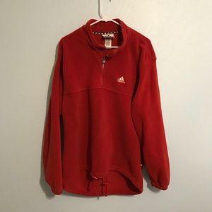 ADIDAS Red Fleece Jacket